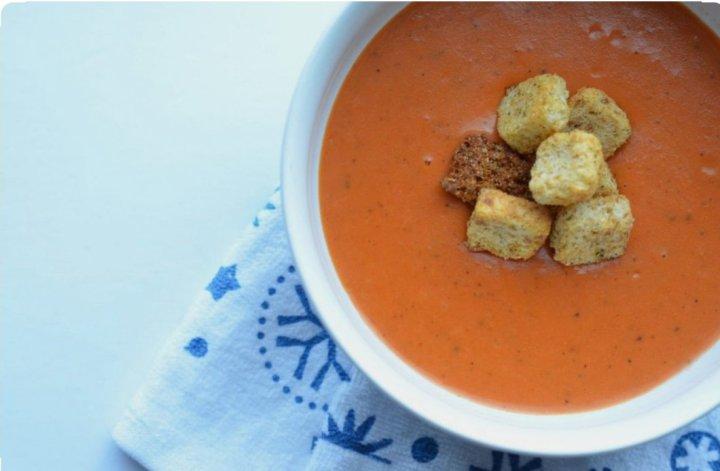 Instant Pot Tomato Soup w/ Basil &Parmesan