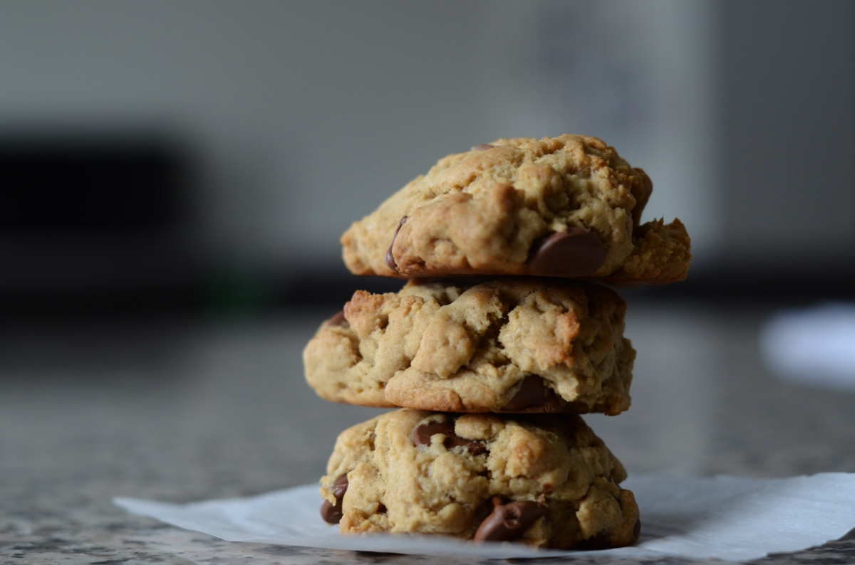 Peanut Butter - Banana - Chocolate Chip Cookies